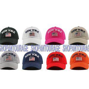 Newhattan NY19 New York USA Flag Unisex Hat Cap